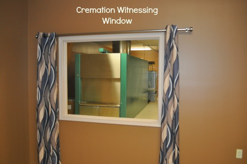 Cremation Witnessing Window